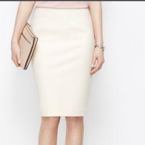 Patrizia Pepe Cream Ivory Pencil Skirt